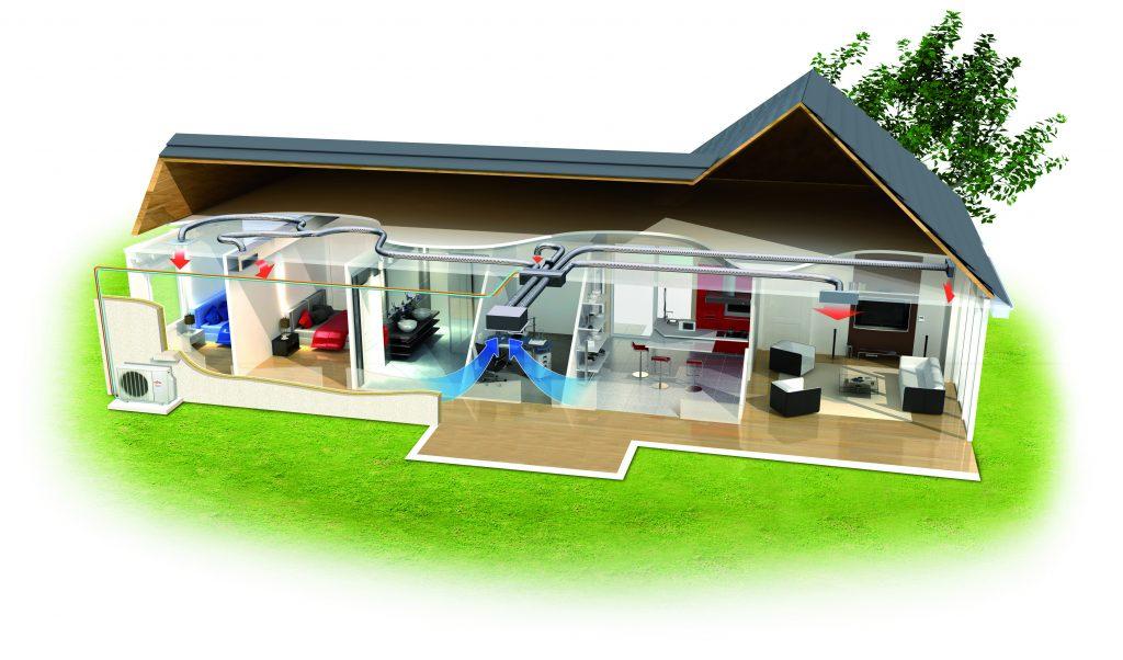 climatisation maison3D-gainable